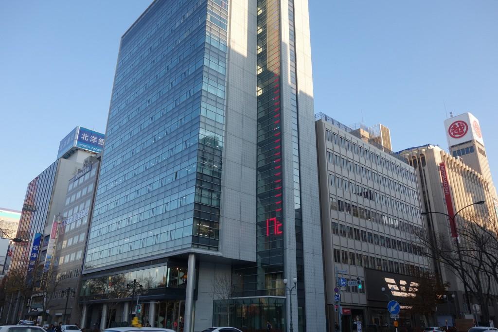 大通り公園の気温を確認できる札幌のビル