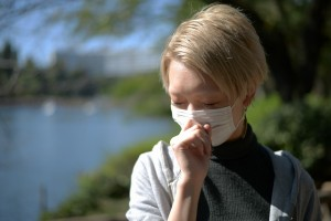 こんなに天気なのに風邪で咳がつらい