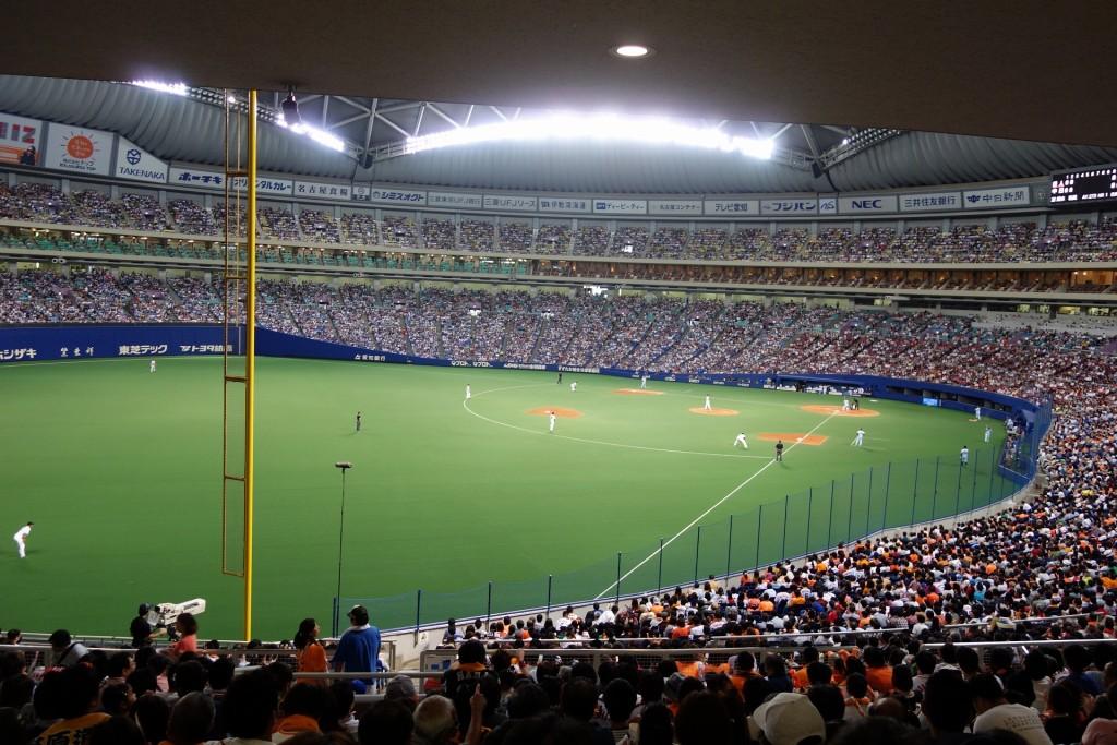 ドームでの野球観戦