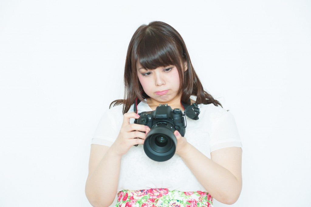 一眼レフの使い方が訳ワカメなカメラ女子
