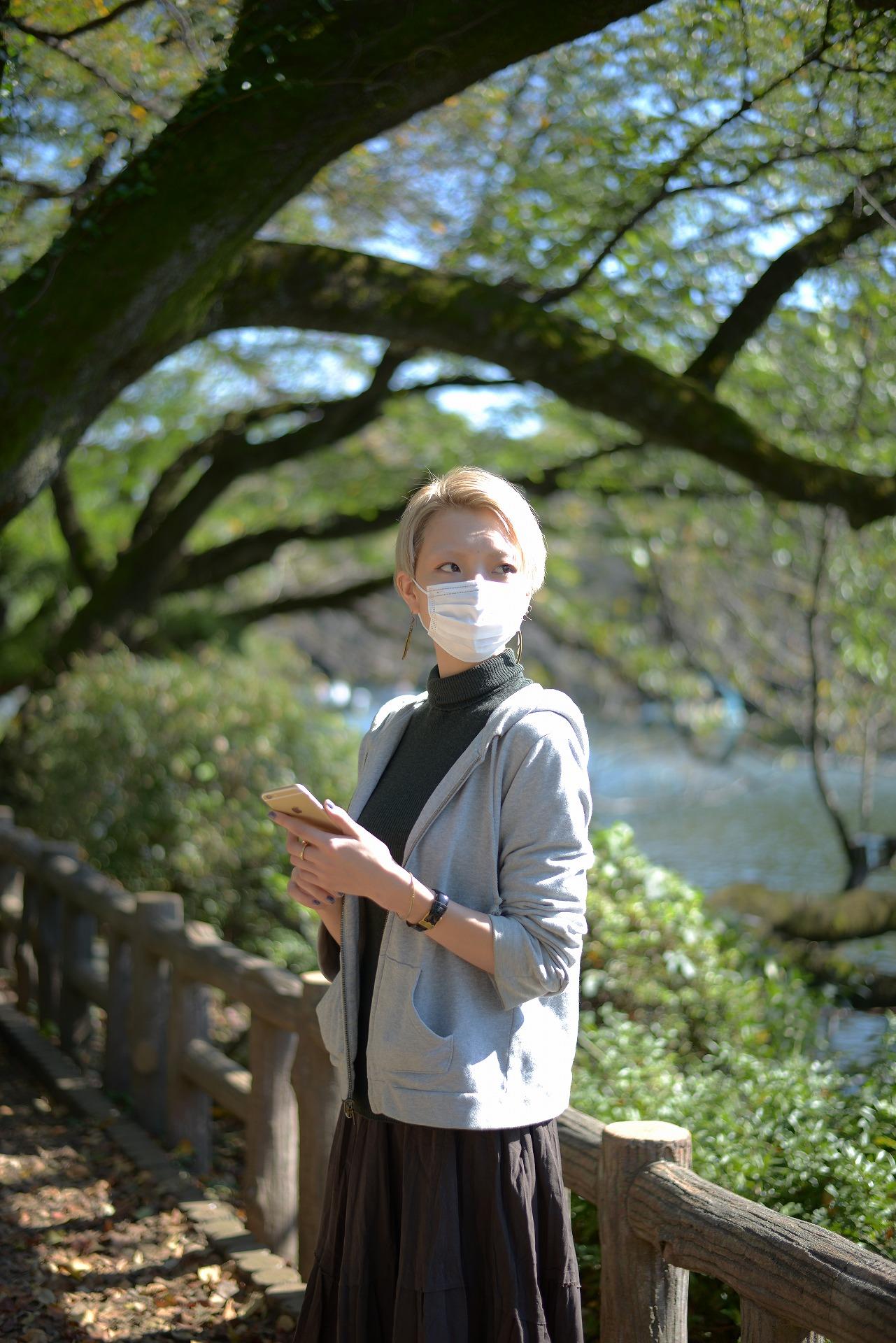 インフルエンザになったので、ひとり公園で隔離中