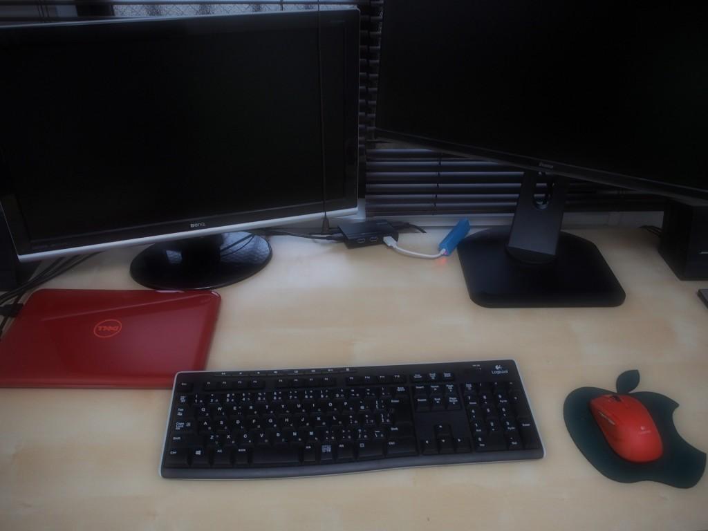 ノートパソコン一台でデュアルモニタ環境を作る