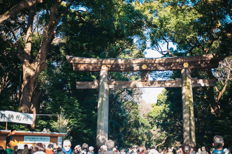 格式のある明治神宮の鳥居