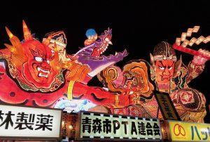 圧倒される迫力のねぶた祭り