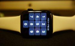 ロックが掛けられたApple Watch