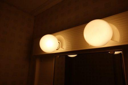 更衣室の照明