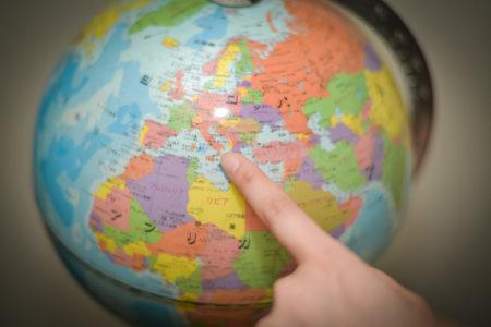 地球儀でここ行きたいと指定されたのはイタリア