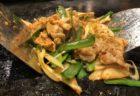 鉄板で焼くキムチ炒め